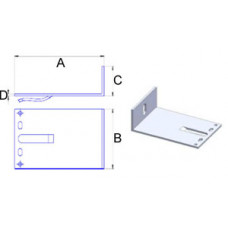 Кронштейн самозажимной алюминиевый 120*80*40*3,5 мм