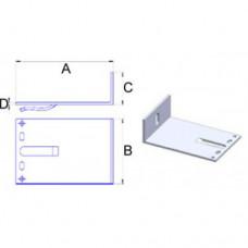 Кронштейн самозажимной алюминиевый 120х120х40*3,5 мм