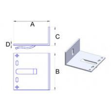 Кронштейн самозажимний алюмінієвий 80*80*40*3 мм