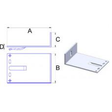 Кронштейн самозажимний алюмінієвий 120*60*40*3,5 мм