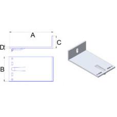 Кронштейн самозажимний алюмінієвий 140*60*40*3,5 мм