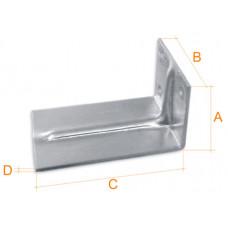 Кронштейн алюминиевый 50*68*120*2 мм