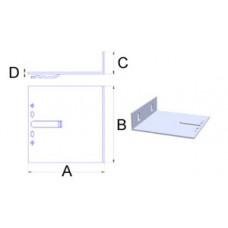 Кронштейн самозажимной алюминиевый 160*100*40*3,5 мм