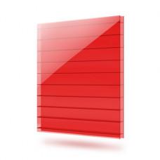 6 мм, красный сотовый поликарбонат Polygal