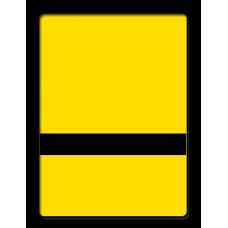 Жовто-чорний, пластик для гравіювання (2-х шаровий АБС)