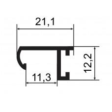 Профиль (аналог Nielsen) Р2, (окрашенный), матовое золотто