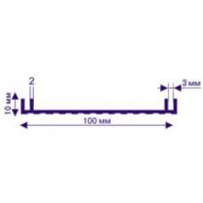 Профіль  АЛ-100  для лайтбоксів Р 6209