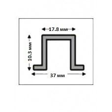 Алюминиевый Д-образный (рустовый)