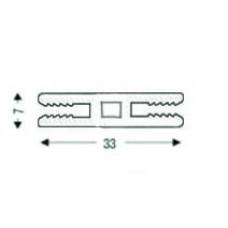 Н-образный алюминиевый соединительный НЕанодированный, для 3 мм