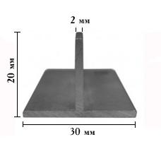 ТАВР алюминиевый 20х30мм, стенка 2 мм