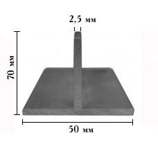ТАВР алюмініевий 70х50мм, стінка 2,5 мм