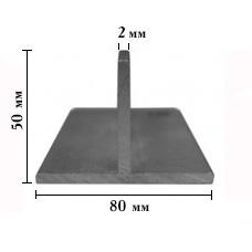 ТАВР алюминиевый 50х80мм, стенка 2 мм