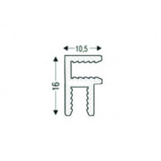Угловой алюминиевый соединительный анодированный, для 3мм