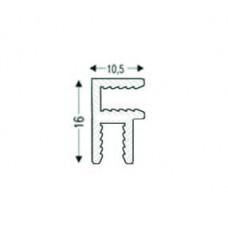Угловой алюминиевый соединительный НЕанодированый, для 3мм