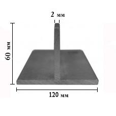 ТАВР алюминиевый 120х60мм, стенка 2 мм