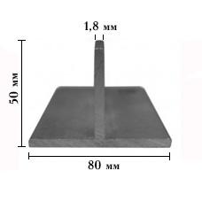 ТАВР алюминиевый 50х80мм, стенка 1,8  мм