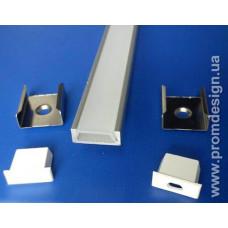 Профіль алюмінієвий для світлодіодного підсвічування (комплект)
