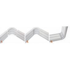 Уголок для Системы 4 - 130 мм (закругленный) белые, серые