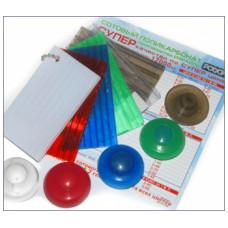 Термошайба для полікарбонату, прозоро-біла