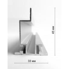 Алюминиевый профиль 31 мм, двухсторонний