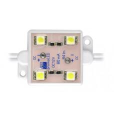 Кластери 4 эл. SMD 3528 (32 lm, 120°, 12V), білий