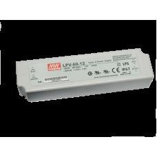 Блок питания 60 Вт IP67 пластик