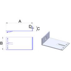 Кронштейн самозажимной алюминиевый 160*80*40*3,5 мм
