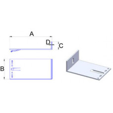 Кронштейн самозажимной алюминиевый 180*140*40*4 мм