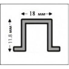 Профіль алюмінієвий Д-подібний швеллер (рустовий) 37*18*11,8